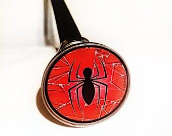 Hard Flex Rubber Spider Man Cane Chrome Plated Handle BDSM Gear Impact Play Discipline
