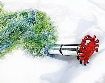 Soft fluffy sensation play flogger crab in seaweed teaser tickler  impact play bdsm