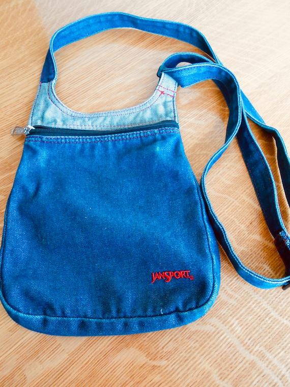 Vintage Jansport Denim Crossbody Bag