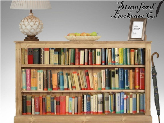 Solid Pine Wooden 3ft x 5ft Low Bookcase Adjustable Wide   Etsy
