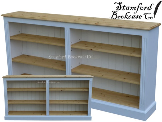 White or Grey Painted 3ft x 6ft Low Bookcase Adjustable Wide   Etsy