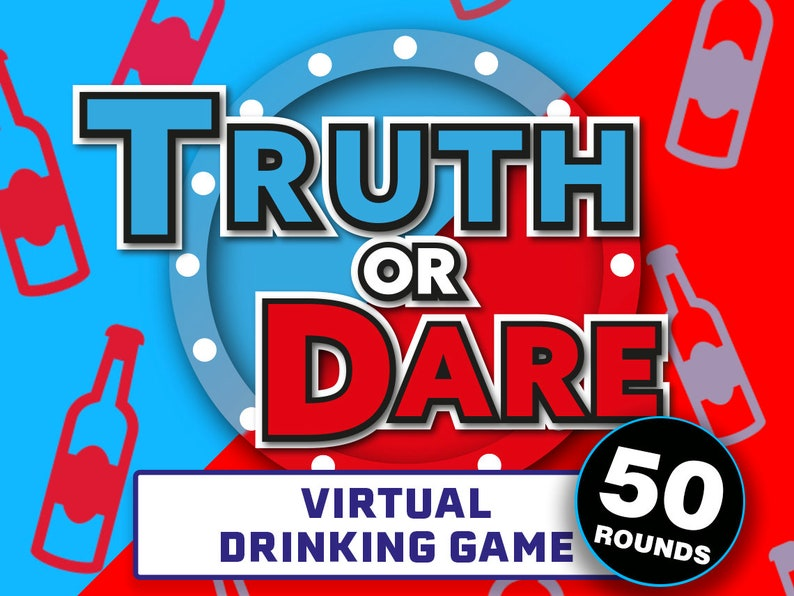 Truth Or Dare Virtual Drinking Game PowerPoint Drinking | Etsy