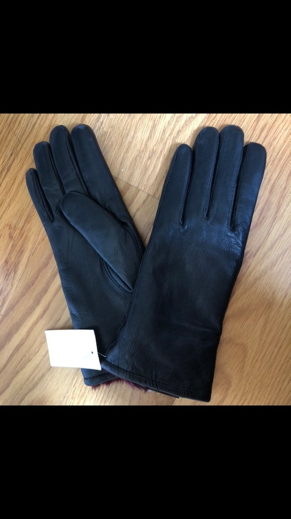 Vintage deadstock leather gloves