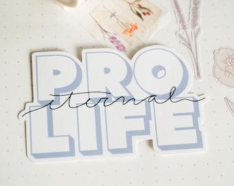 Pro Eternal Life Pro Life Sticker Bundle Laptop Decal Water Bottle Decal