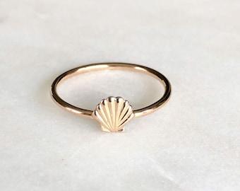 shell ring Seashell band ring ocean ring coast beach