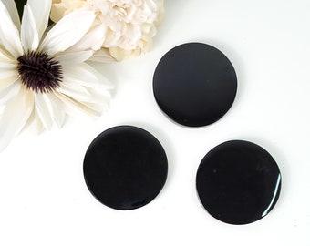 Black Obsidian Scrying Mirror, Magic Mirror, Black Obsidian Smoking Mirror, Black Obsidian Gemstone, Black Crystal