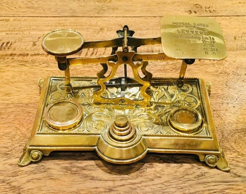 Victorian letter weighing balance image 1