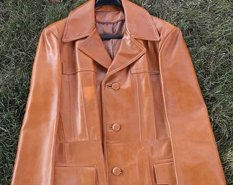 RARE 1970 Vintage Hippie suede jacket  Starsky and Hutch Austin Powers groovy tan suede jacket for women with curly fur collar and sleeves