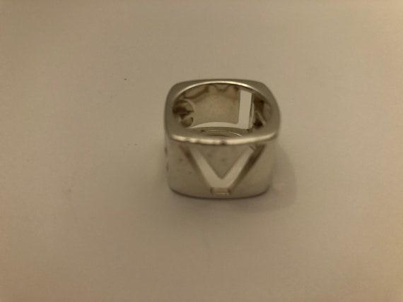Vintage Tiffany & Co LOVE  Era Stencil ring