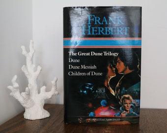 Vintage The Great Dune Trilogy Frank Herbert Harcover 1984 Complete & Unabridged