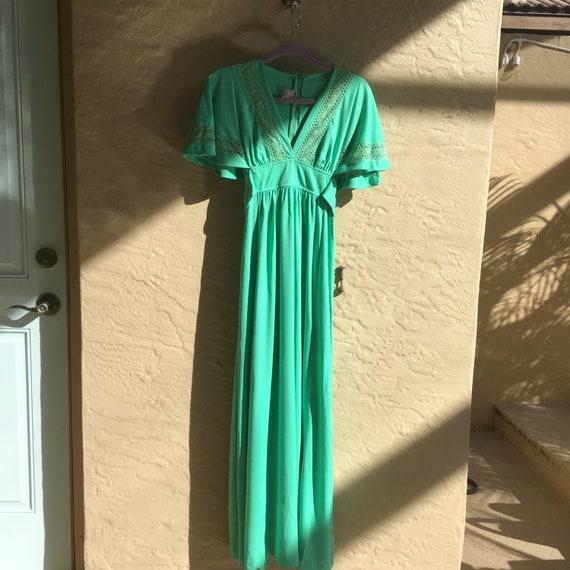 Stunning 70s boho empire waist dress