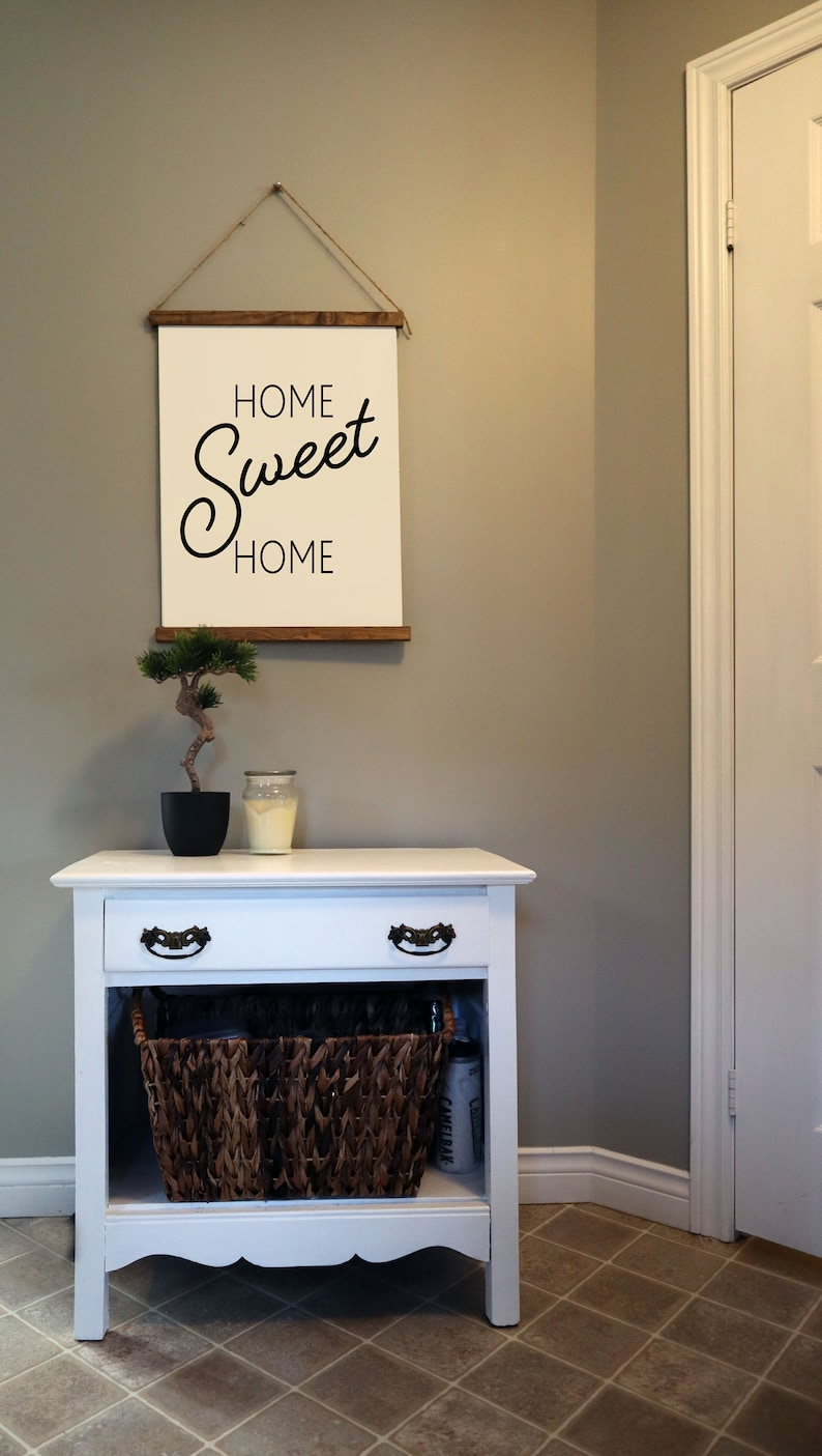 Canvas Hanging Sign Home Sweet Home image 0