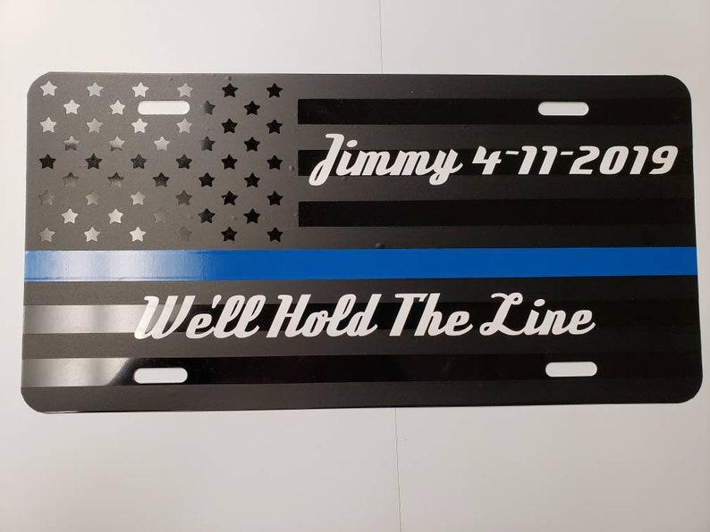 Thin Line Memorial License Plate