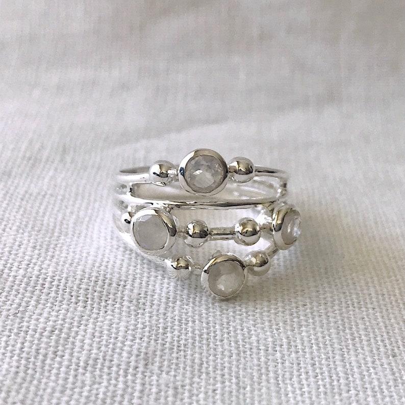 stone rings Healing Ring June Birthstone Ring Gemstone Ring Crystal Ring Moonstone Ring Sterling Silver Ring