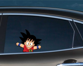 Dragon Ball Transparent Car Back Rear Window Decal Vinyl Sticker Saiyan Manga