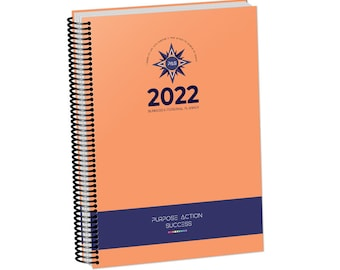 2022 PLANNER + FREE Notebook | 12-Month 24-Hour time slots | 6-in-1 A4 Business & Personal Planner | Purpose Action Success Daily Diary | V3