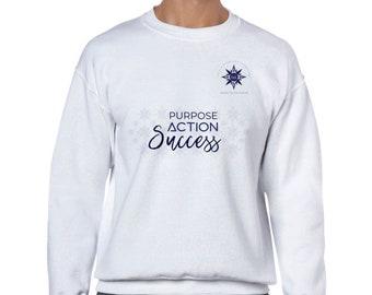 Classic Unisex Crewneck Sweatshirt | Purpose Action Success Sweatshirt | Inspiration Sweatshirt | Sweatshirt Men Women | Purpose Sweatshirt
