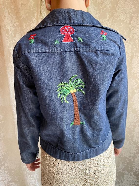 Hand Embroidered 70's Denim Vintage Jacket