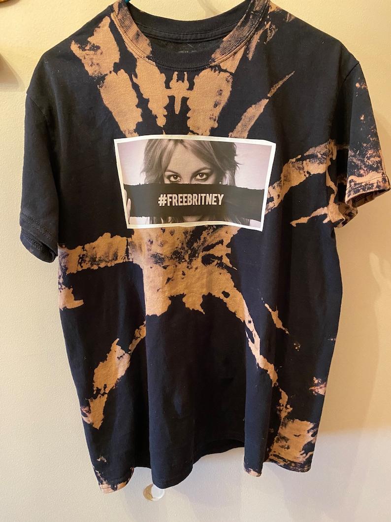 FREE SHIPPING!!!!! FreeBritney Tie Dye black T Shirt