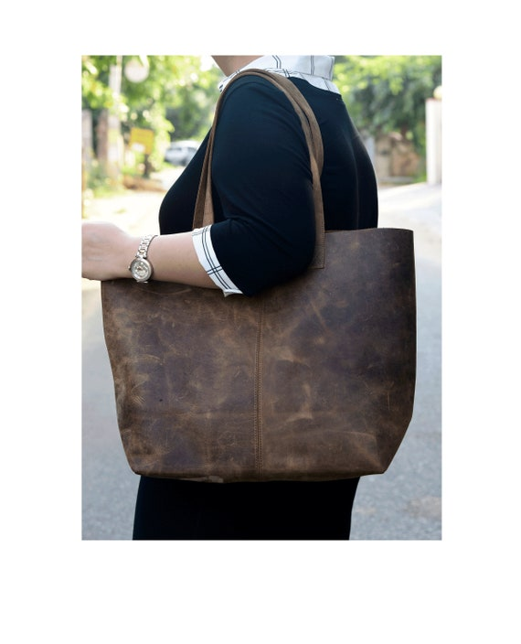 Leather totes,Work bag,Tote bag,Brown leather tote