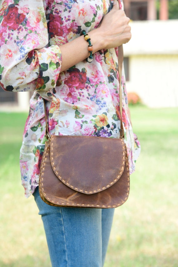 Genuine Leather Messenger Bag, Crossbody Bag, Leat