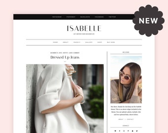 Isabelle   Responsive WordPress theme for fashion and lifestyle blogs