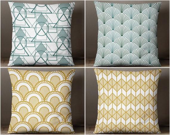 Artdeco Throw Pillows Modern Throw Pillows And Decorative Etsy