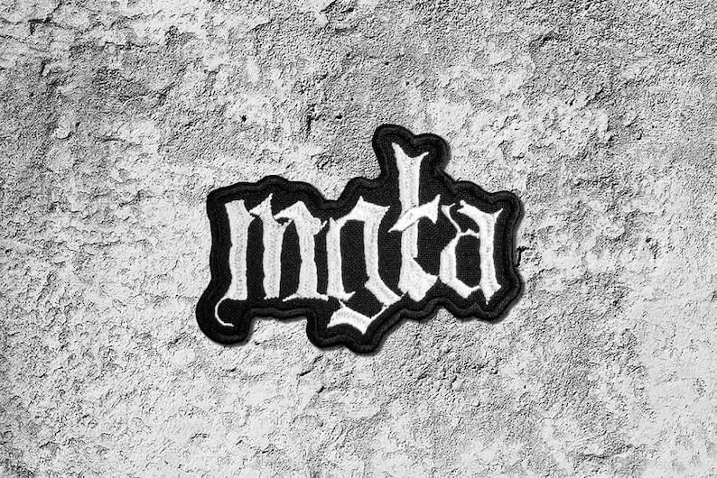 Mgla band logo patch Black Metal band patch.