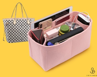 Purse Organizer For LV Neverfull Bags | Tote Bag Organizer | Designer Handbag Organizer | Bag Liner | Purse Insert | Purse Storage