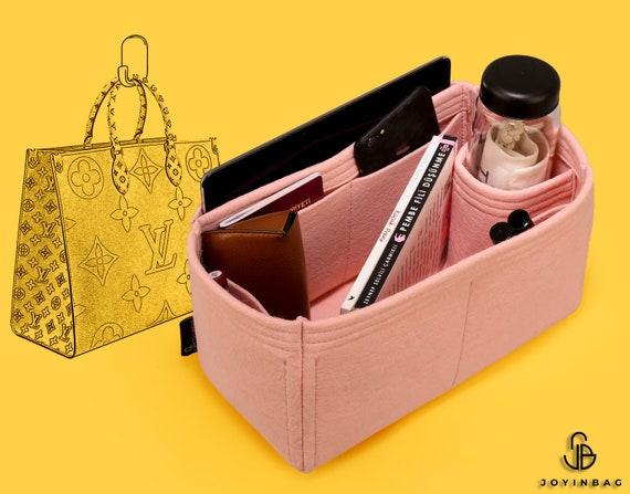 L Zip Metal Gold Makeup Laptop iPad Pocket V Jersey Bag Organizer Tote Felt Purse Insert w Detachable Zipper Bag