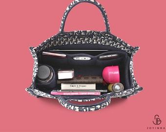 Purse Organizer For Dio. Book Tote Bag   Tote Bag Organizer   Designer Handbag Organizer   Bag Liner   Purse Insert   Purse Storage