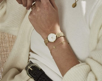 The Small Edit White Steel Gold, Watches, Watches for Women, Women Watches Silver,  Wrist Watches, Women's Watches