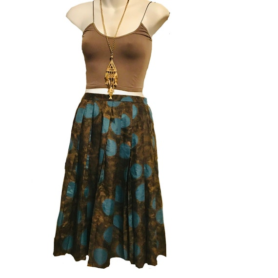 Vintage late 1950s Majesty Pleated Abstract Skirt