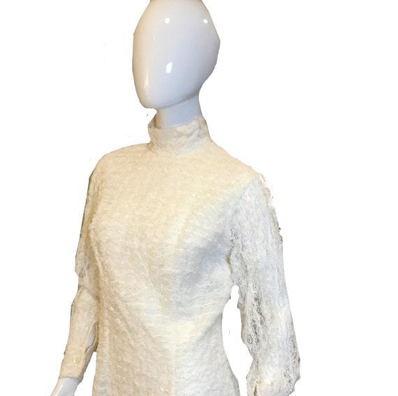1950s  Adelaar  Ruffle High Collar Blouse