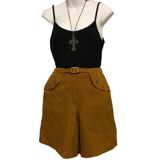 Vintage 1960s Bermuda Shorts, Tweed Bermuda Shorts