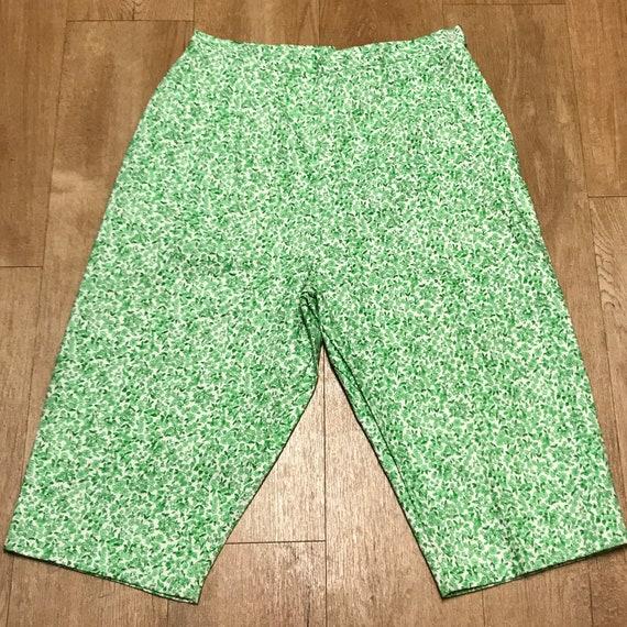 Floral 1960s Bermuda Shorts, Retro Bermuda Shorts