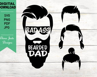 Bearded Daddy Svg Etsy