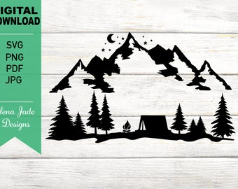 Tent Camping Svg Etsy
