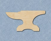Wood Anvil Cutout, Wood Anvil Shape, Laser Cut Anvil, Craft Shape, Multiple Sizes, Unfinished, DIY