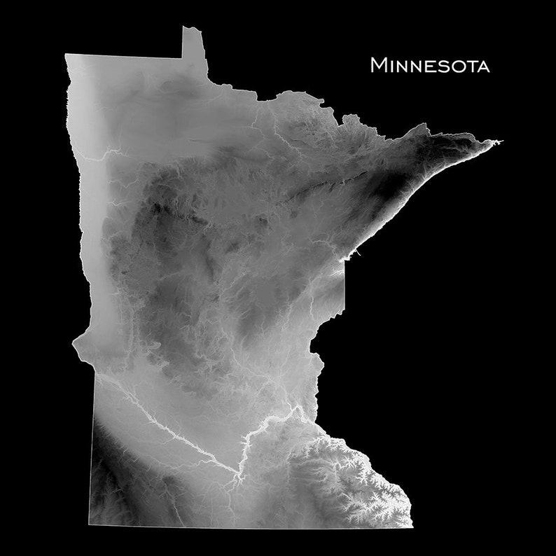 Minnesota Map Art Print US State Topographic Map