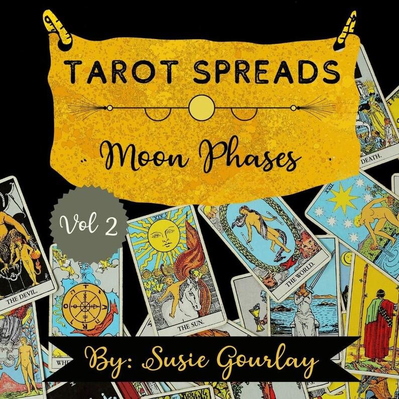 Tarot Spreads DIGITAL Zine  Moon Phases Vol 2 image 0