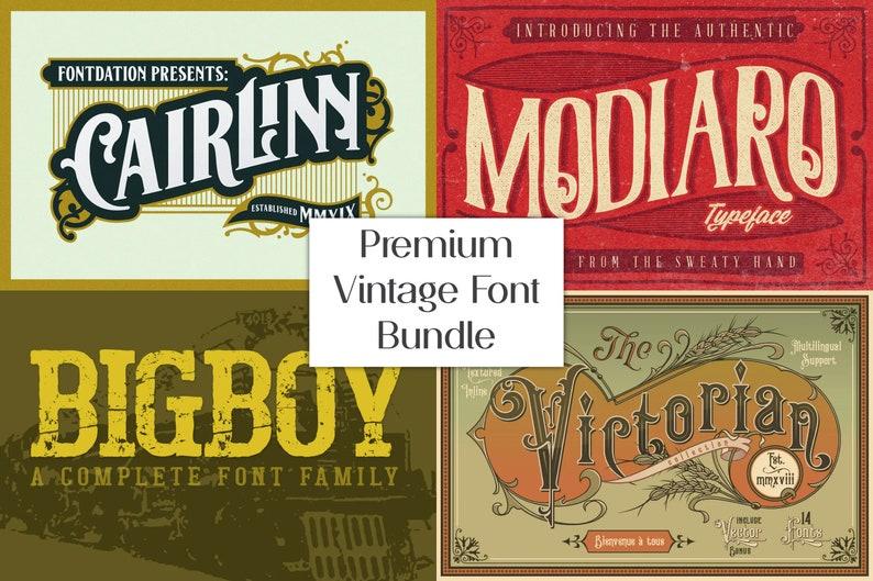 Calligraphy Font TTF Classic Font Ornament Font Premium Vintage Font Bundle OTF Elegant Font Big Title Font Decorative Font