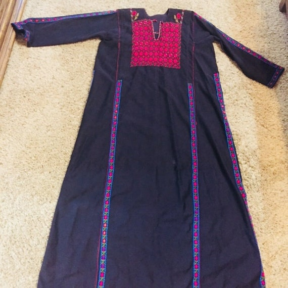 Vintage Bedouin Embroidered Dress (1920-1930)