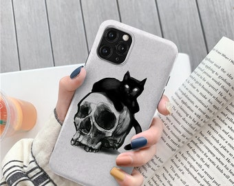 Skull Black Cat for Samsung a52 a32 s20 Fe s21 plus Samsung a50 case galaxy s10 s10e a70 a40 case galaxy s9 s8 plus case note 9 case c091