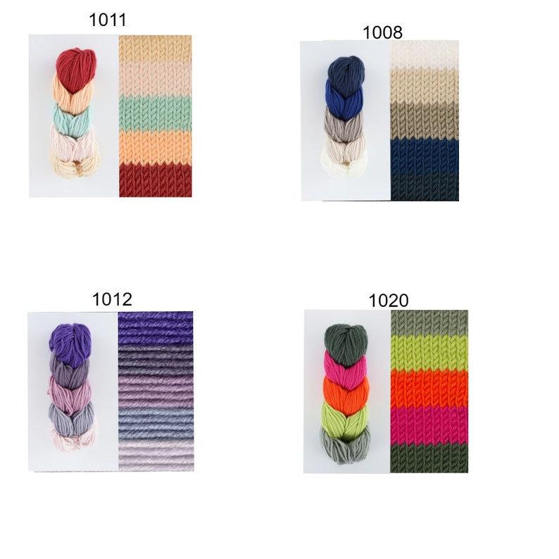 Caron Pantone Ocean Surf color number 1008 -merino wool blend yarn chunky yarn in navy cream beige blue color
