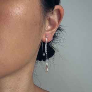 Silver Dangle Earrings \u2022 Sterling Silver Earrings \u2022 Everyday Earrings \u2022 Birthday Gift