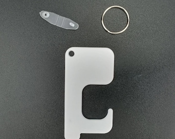 Acrylic Blank door opener keychains Ready to sublimate