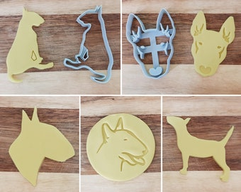 Dog Shaped Cookie Cutters, Bull Terrier Cookie Cutter, Bull Terrier, Cookie Cutters, Custom Cookie Cutters