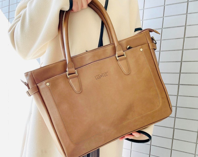 Featured listing image: Lala Messenger Handmade Leather Bag - 13 inches laptop - Light Brown