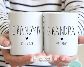 baby announcement grandparent mug
